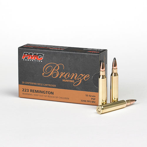 Ammo .223 Remington 55Gr. Jacketed Soft Point 20-Pack